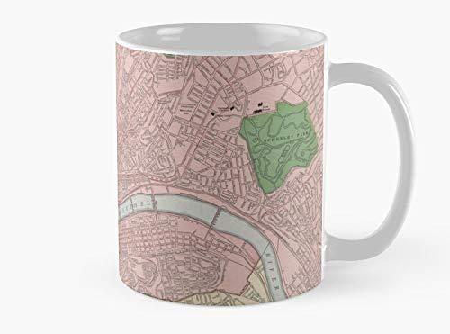 Carte vintage de Pittsburgh en Pennsylvanie (1912) Mug, Standard Mug Standard Mug Mug coffee Mug Te