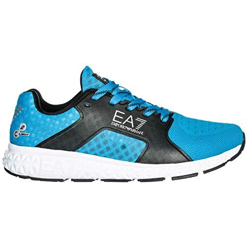Emporio Originale Ea7 Uomo Scarpe Sneakers Armani Azzurro Memory Foam Nuove WIYeD29EH