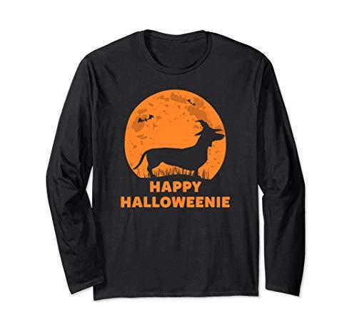 Happy Halloweenie Dog Halloween Dachshund Gift Long Sleeve