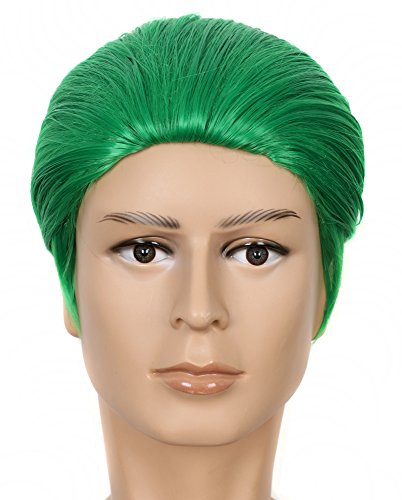 Yuehong Green 12 Inch Hair Synthetic Fashion Party Halloween Cosplay Costume Wig