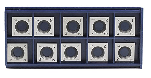 YUFUTOL 14mm Square Straight Carbide Cutter Insert(14mm lengthX14mm widthX2.0mm thick) 4-edge,Pack of 10, Designed for Wood Working Spiral/Helical Planer Cutter Head,DIY Wood Lathe Tool ()