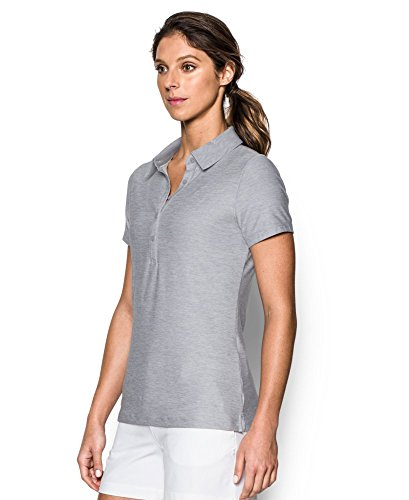 Donna Overcast Overcast Armour Gray 565 Gray Manica 1272336 A Polo Under Corta gq80w