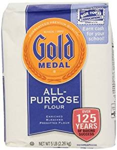 Gold Medal Enriched Bleached Flour Presifted 80 Oz. Pack Of 3. (Enriched Bleached Wheat Flour)