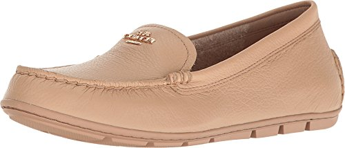 Coach Mary Round Leather Flats
