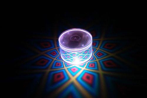 Set of 2 LiteRays LED Light Up Projection LitePod Table Center Piece/Drink Accessory- 5 Star -