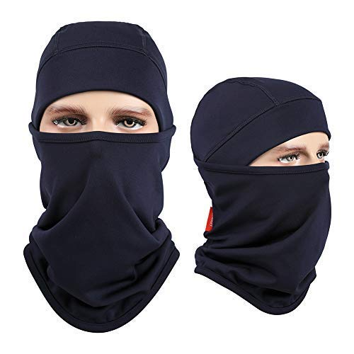 Aegend Balaclavas Navy Blue,Windproof Ski Face Mask Winter Motorcycle Neck Warmer Tactical Balaclava Hood Polyester Fleece for Women Men Youth Snowboard Cycling Hat Outdoors Helmet Liner Mask, 1 Piece