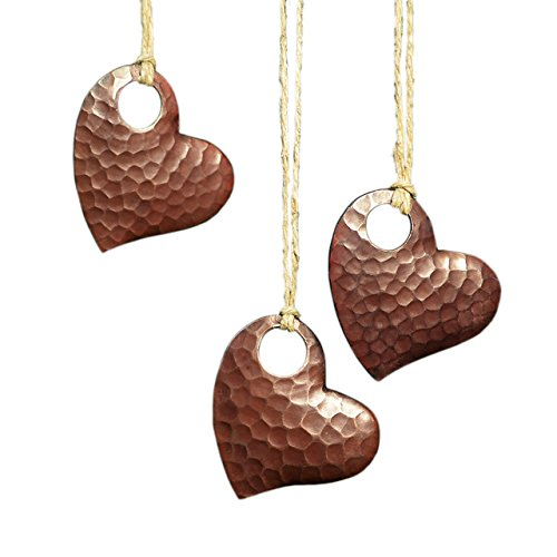 - Native Trails Copper Heart Ornaments, Set of 3