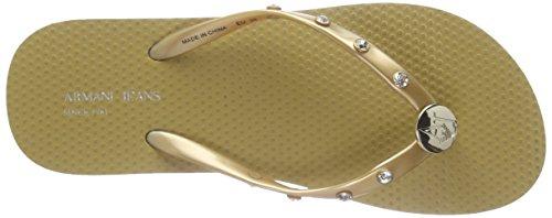 Armani C55f832 - Sandalias Mujer Dorado - Gold (ORO - GOLD 9L)