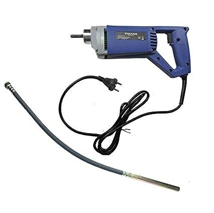Stahlfuchs - Vibrador de hormigó n, de mano, de 900 W, de 1,5 m o 2 m, vibrador interno de hormigó n de 900W 5m o 2m vibrador interno de hormigón GBT
