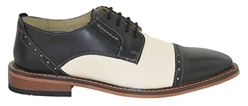 Giorgio Brutini Mens Daunt Smoking Oxford Svart