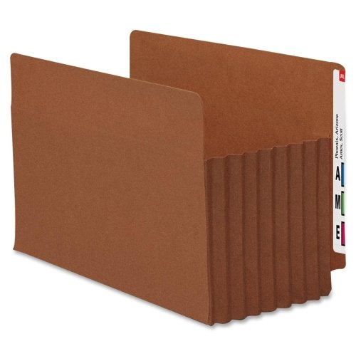 Wholesale CASE of 5 - Smead Tuff Pocket End Tab File Pockets-End Tab File Pockets, 7'' Exp, 5/BX, Legal, Red