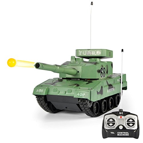 Liberty Imports RC Power BB Tank Radio Remote Control Military Battle Tank That Shoots Airsoft - Tank Scale Battle Controlled Radio