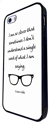 726 - I'M So Smart That Sometime I Don'T Understand A Single Word Of What I Am Saying Design iphone SE - 2016 Coque Fashion Trend Case Coque Protection Cover plastique et métal - Noir
