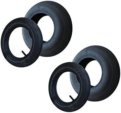 2 Set Reifen Schlauch 400x100 4 80 4 00 8 Rillen Profil Pr4 Lagen Tragfähigkeit 305 Kg Baumarkt