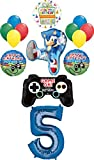 Sonic the Hedgehog Party Supplies 5th Birthday Balloon Bouquet Decorations 14pc