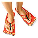 Churinga Flip Flops Summer Beach Sandals Shower Slippers Non-Slip Funny Crazy Shoes Wear for Women Men Red