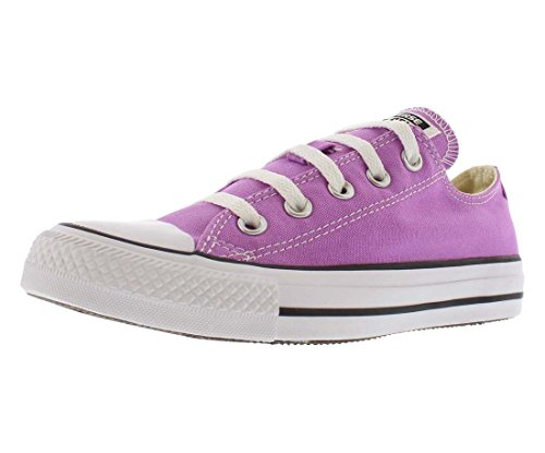 (Converse Unisex Chuck Taylor All Star Low Top Fuchsia Glow Sneakers - 6 D(M))
