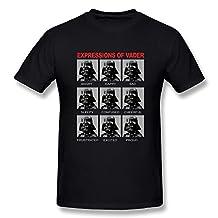 ZHUYOUDAO Custom Star Wars Expressions Of Darth Vader Tshirts For Mens Black L