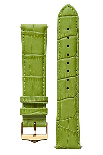 signature-tropico-in-light-green-20-mm-watch-band-replacement-watch-strap-genuine-leather-gold-buckl