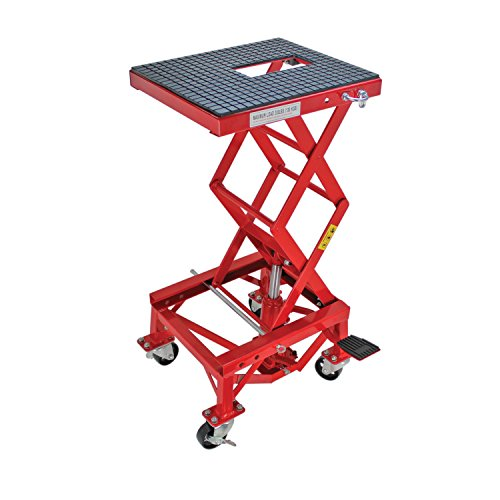 Lift Scissor Table Pump - Extreme Max 5001.5083 Hydraulic Motorcycle Lift Table – 300 lb.