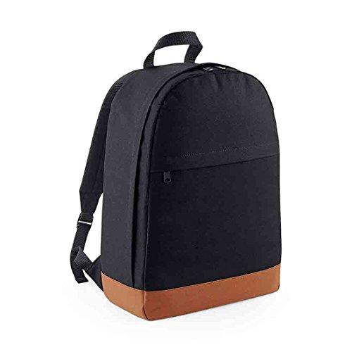 Tasche Boden Freshman 600D Polyester Rucksack - Black/ Tan pilop4Y