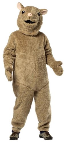Rasta Imposta Hamster, Brown, One Size (Hamster Costume For Adults)
