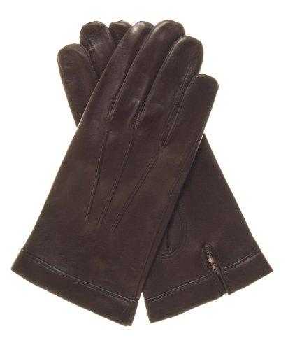 Fratelli Orsini Men's Italian Silk Lined Lambskin Leather Gloves Size 8 Color ()