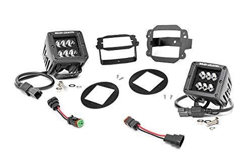 "Rough Country 70630-2"" Black Series CREE LED Fog Light Kit 10-18 Wrangler JK (fits) Jeep 10-18 Wrangler JK 4WD"