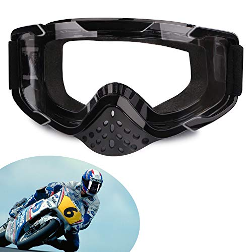 XYOP Motorcycle Goggles,ATV Goggles Motocross,Dirt Bike Goggles Helmet,Bendable OTG Frame Goggles Windproof Racing Goggles Off Road,100% Goggles UTV Nose Guard,Wrap Ski Goggles,Dustproof Over ()