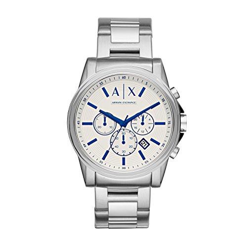 (Armani Exchange Men's AX2510  Silver Quartz Watch)