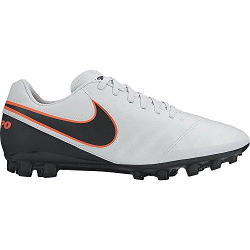Naranja pure Hombre De Fútbol Platinum Botas Para Blanco Leather Ag Genio Negro hypr Orng Nike r Tiempo Ii Black wn0qfv8O6