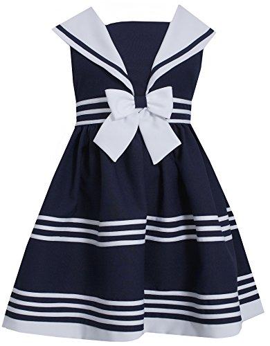 Bonnie Jean Little Girls' Nautical Sailor Collar Dress