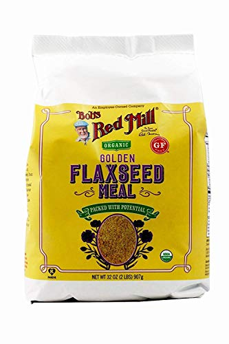 Bob's Red Mill Resealable Organic Golden Flaxseed Meal, 32 Oz (4 Pack)
