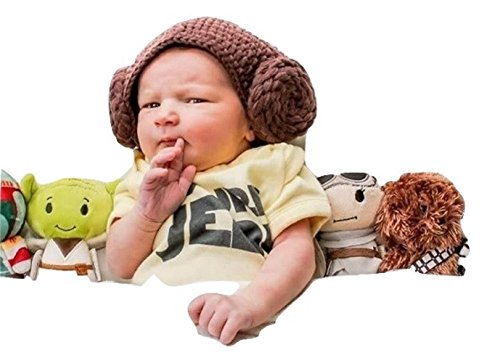 Handmade Star Wars Halloween Costumes (Star War handmade baby Princess Leia hat - fits 0-3 month)