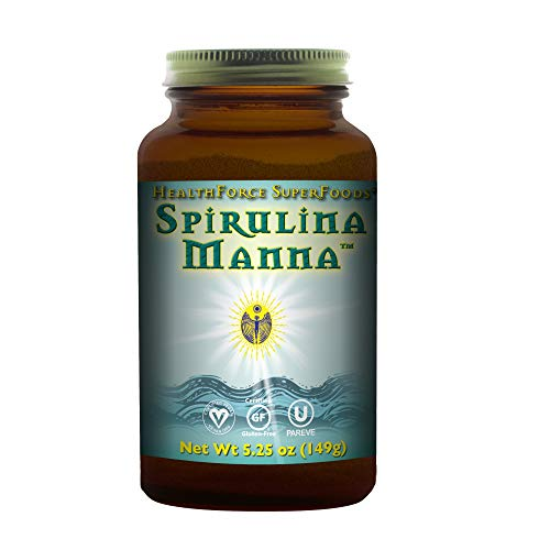 HealthForce SuperFoods Spirulina Manna - 5.25 oz Spirulina Powder - All Natural Nutrient Rich Superfood with Vitamins, Minerals, & Amino Acids - Organic, Vegan, Gluten Free - 62 Servings