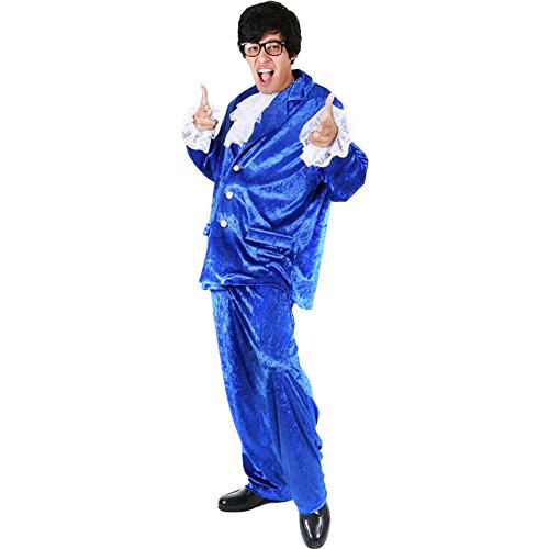 Austin Power Halloween Costumes (Adult Deluxe Austin Powers Costume, Size Standard)