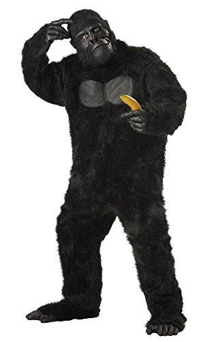 California Costumes Men's Plus-Size Full Gorilla Suit Costume In Plus, Black, Plus (Adult Gorilla Costume)