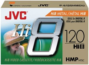 Amazon com: JVC P6120HMDU 120-Minute Hi8 Metal Particle Video Tape
