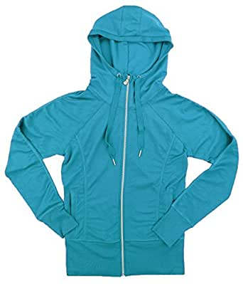 Champion Elite Womens Full Zip Hooded Jacket (Medium, Gemstone)