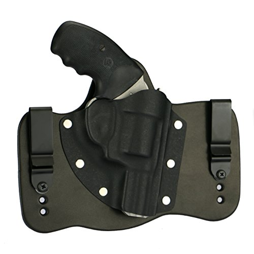 FoxX Holsters Charter Arms Bulldog .44 In The Waistband Hybrid Holster Tuckable, Concealed Carry Gun Holster (Black) (Best Holster For Charter Arms Bulldog)