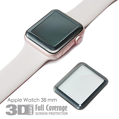 hoda [38mm] Glass Screen Protector for Apple Watch Series 3/2/1 [3D Full Coverage] Black by HODA (Image #6)