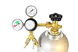 Premium Double Gauge CO2 Regulator - Polycarbonate Bonnet