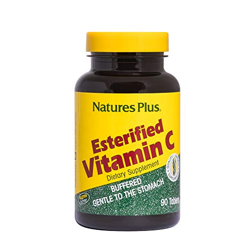 Natures Plus Esterified Vitamin C – 675 mg, 90 Vegetarian Tablets – Maximum Absorption Immune Support Supplement, Acid Free, Easy on Stomach – Gluten Free – 90 Servings For Sale