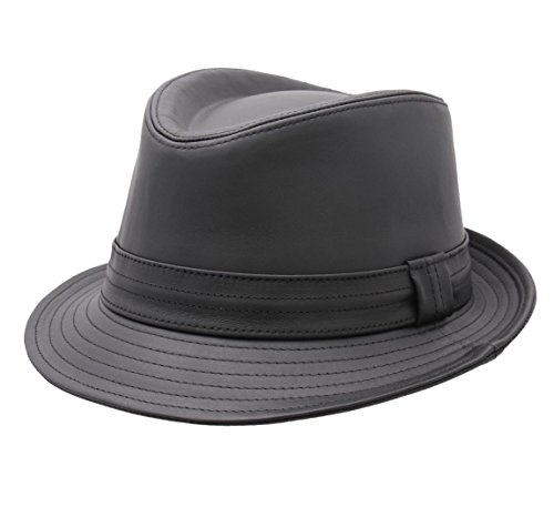 Classic Italy - Trilby Hut herren Classic Trilby Cuir - Size 62 cm