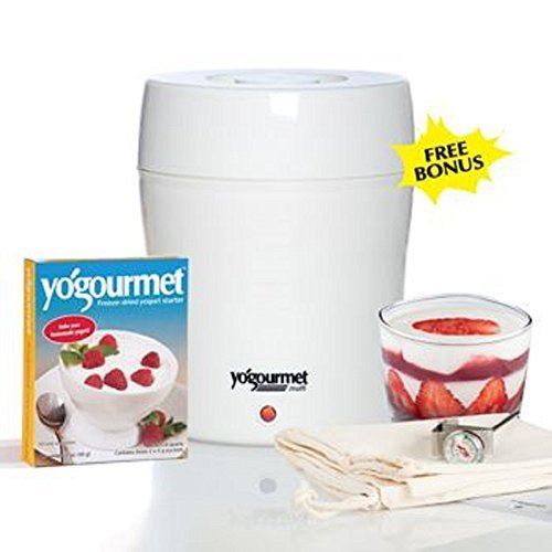 New  Unique  Water Bath System  Electric Yogurt Maker  White Finish