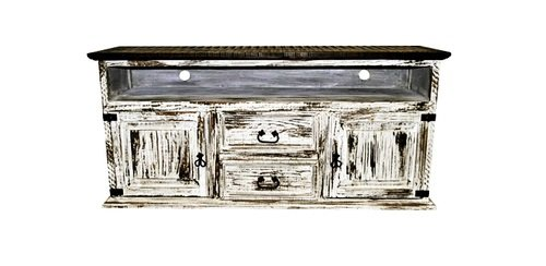 2 Door 2 Drawer TV STAND White Scraped Western Rustic Real Wood!! - Made With Real Wood Scraped White Finish Available In Red,Blue,White,Turquoise,Green and Honey - tv-stands, living-room-furniture, living-room - 41MH8F4Y1JL -