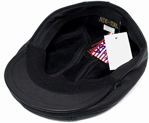 (NEWYORKHAT) レザー ハンチング #9250 LAMBA 1900, Black(ランバ1900 - ブラック)