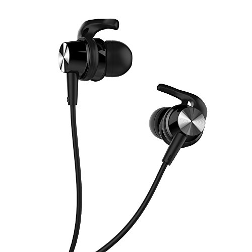Stereo Headphone with Microphone, Tonicstar Wired Sport Headset with Earhooks Black by Tonicstar