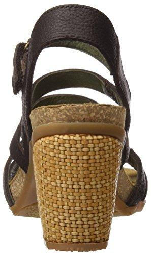 Tacón de Mujer Marrón 5030 Naturalista Sandalias Brown El I1wqHzx