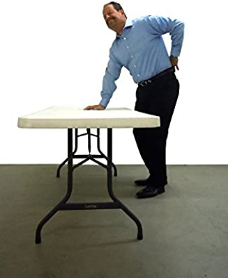 Lift Your Table Folding Table Risers Extenders - Converts Folding Tables to Kitchen Counter Height Work Surface, Original Re-positionable Foot, Standard Size, Black